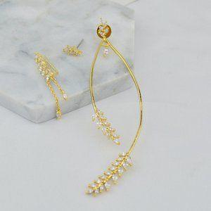 Henri Bendel Three-Piece Asymmetric Earrings